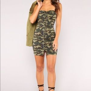 NEW Fashion Nova camo bodycon dress